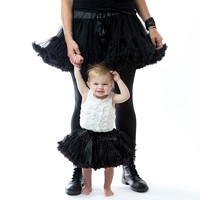 one year old with mommy tutu